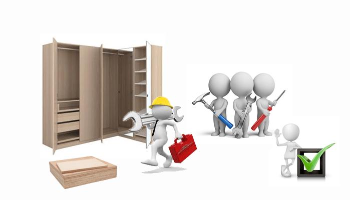 Демонтаж, Монтаж и Опаковане на мебели, преместване на демонтирани мебели цена
