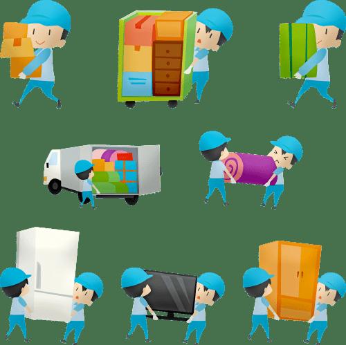 Опаковане на вещи, пренос на тежки товари